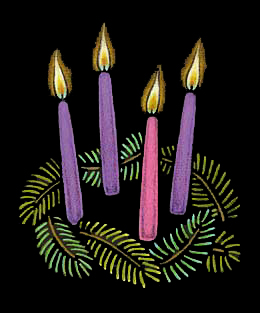 Advent Candles for Pinterest